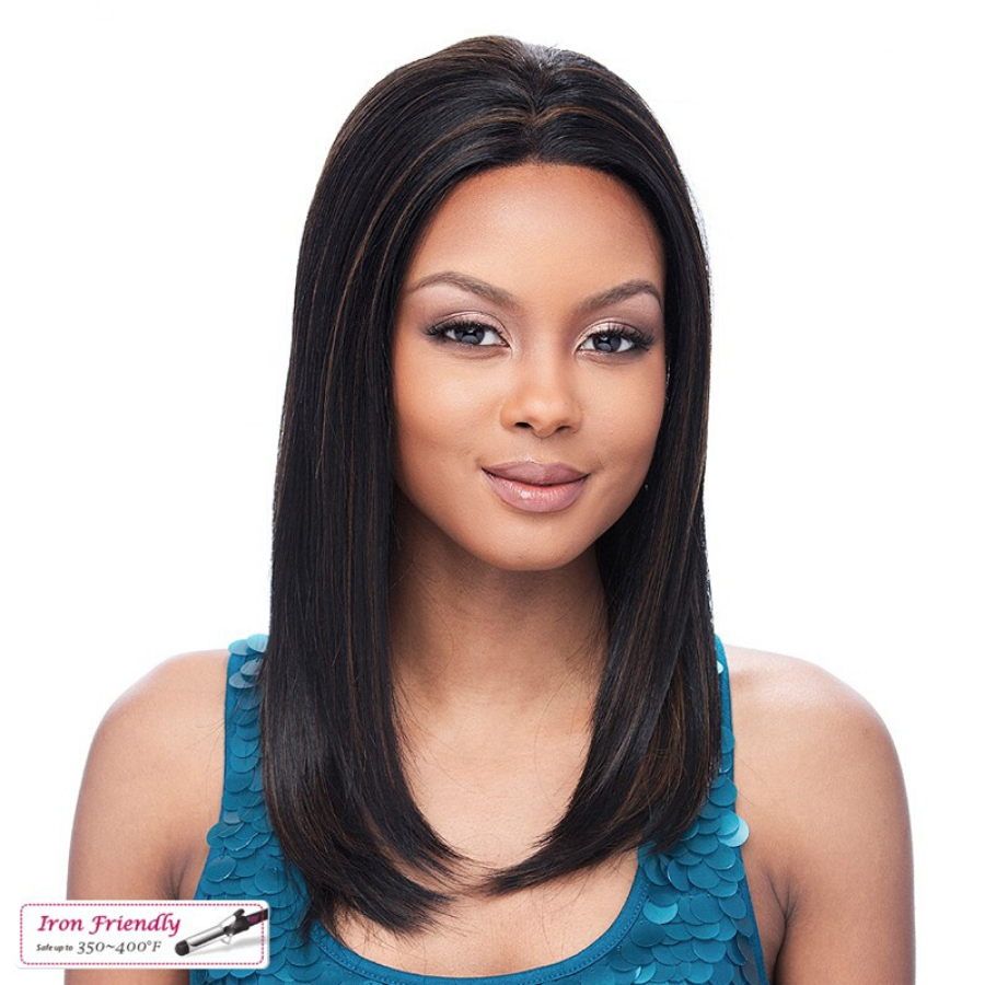 GLAMUROSA - Lace Front Wig - with smooth cut climbed